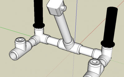 Designing PVC Pipe Based Projects with SketchUp