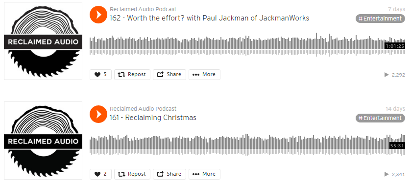 Maker Spotlight – Reclaimed Audio Podcast