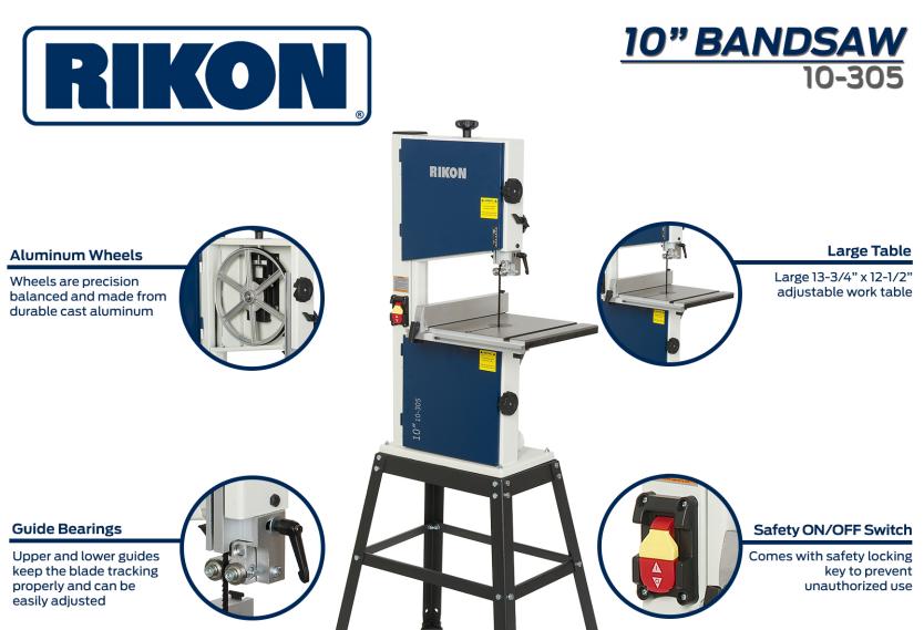 Product Spotlight – Rikon 10″ Bandsaw